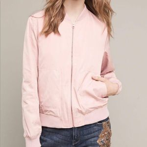 NWOT Anthro Hei Hei Pink Bomber Style Jacket - M